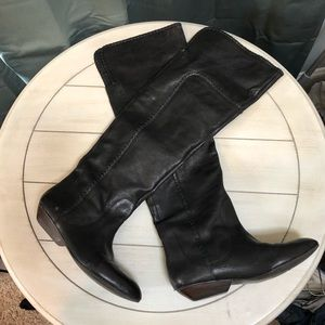 Black Leather Thigh High Boots from Nordstrom